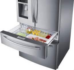Door French Door Refrigerator Reviews - samsung rf28hmedbsr 28 15 cu ft french door refrigerator with spill proof glass shelves