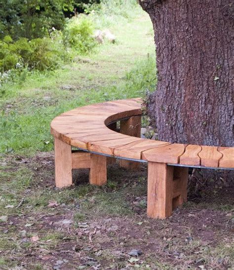 rustic garden seats benches gardens trees and curved bench on pinterest