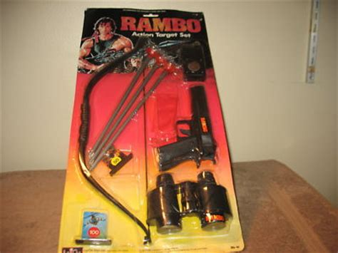 rare largo toys  rambo bow  arrow pistol action