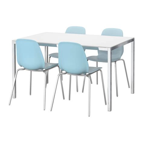 Ikea Torsby Dining Table Torsby Leifarne Table And 4 Chairs Glass White Light Blue 135 Cm Ikea