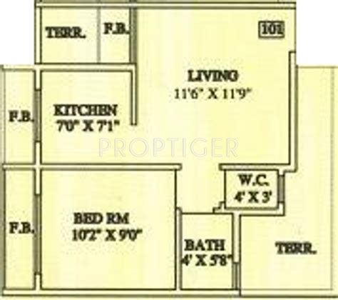 640 square feet 640 sq ft 1 bhk 1t apartment for sale in aashirwad builder