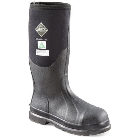 steel toe muck boots muck s chore rubber steel toe work boots 666453