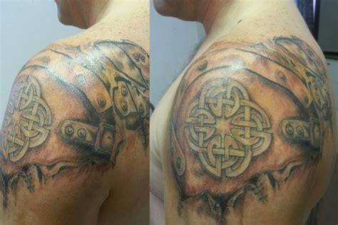 leather tattoo designs back tribal shoulder