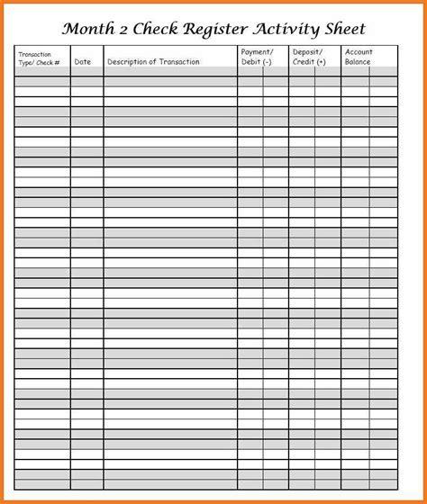 checkbook register resume skills