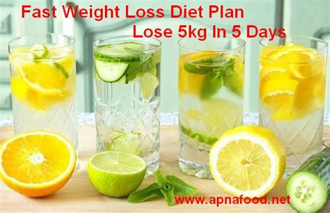 weight loss 5 days fast weight loss diet plan lose 5kg in 5 days apna food