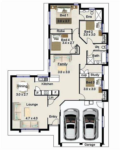 roomed house plan  zimbabwe