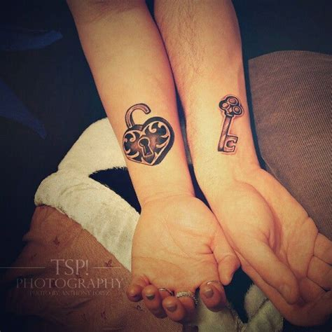 key and lock couple tattoos ideas to replace engagement rings glam radar