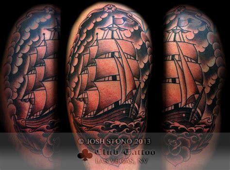 black and grey tattoos las vegas joshstono black and grey traditional ship