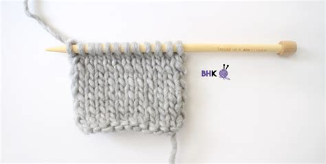 knitting stockinette stitch how to knit the stockinette stitch tutorial b
