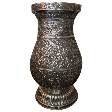 Most Valuable Vases by Solid Silver Jar Shaped Vase At 1stdibs