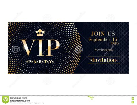 vip card template vip invitation card premium design template stock vector