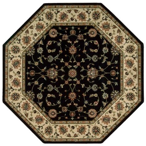 Nourison Persian Arts Marlik Black 5 Ft 3 In X 5 Ft 3 Octagon Shaped Area Rugs