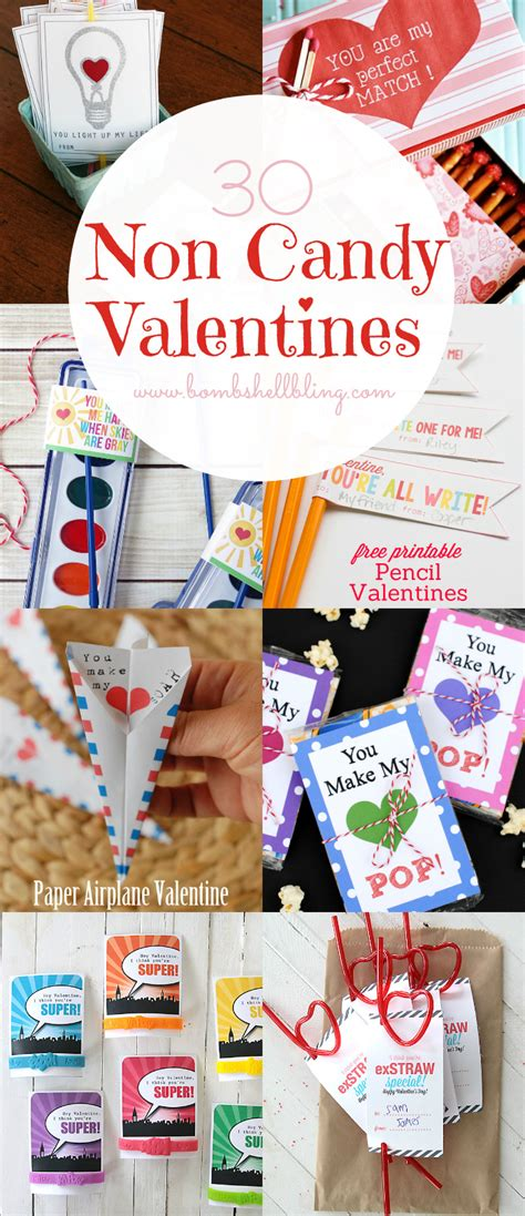 30 non candy valentine ideas printables