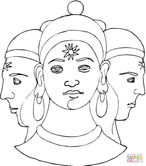 pics for gt lord shiva colouring pages
