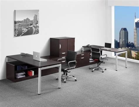 ndi office furniture elements two station desk suite