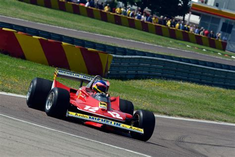 gilles villeneuve honoured  ferrari evo