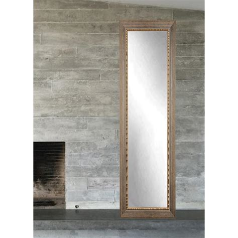 deco mirror 18 in x 64 in carousel floor mirror in black
