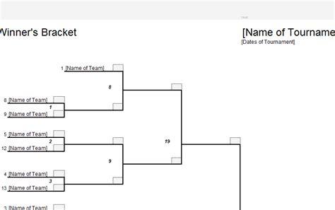 elimination tournament bracket template elimination bracket sheet 187 template