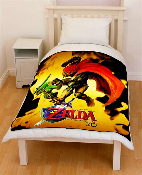 the legend of zelda ocarina of time bedding throw fleece