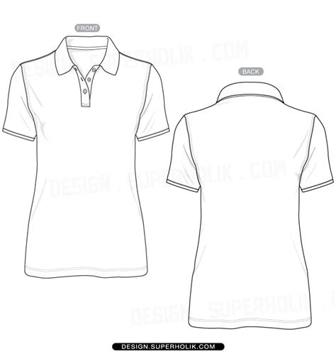 Fashion Design Templates Vector Illustrations And Clip Artswomen S Polo Shirt Template Fashion Design T Shirt Templates
