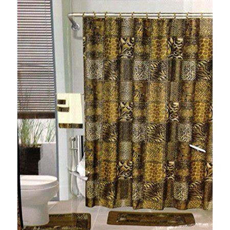leopard bathroom rug 18pcs bath rug set leopard brown bathroom rug shower