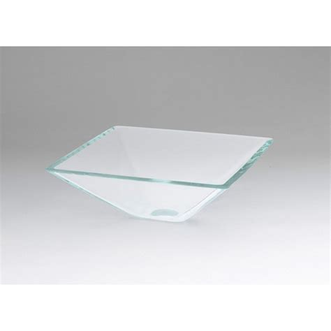 ronbow square vessel sink ronbow square tempered glass vessel bathroom sink in