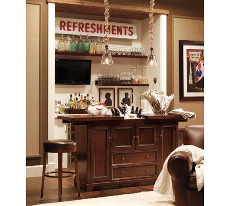 torrens bar cabinet pottery barn cave