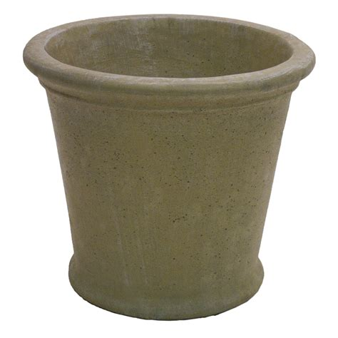 planters and pots shop 17 in x 15 in desert sand concrete planter at lowes com