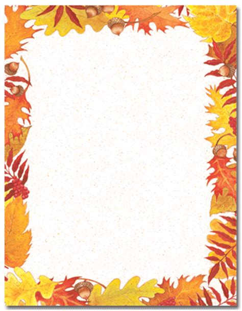 Leaf Invitations Leaf Invitations And Leaf Announcement Free Fall Border Templates