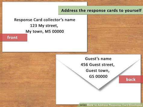 Card Envelope Address Template by How To Address Response Card Envelopes With Pictures
