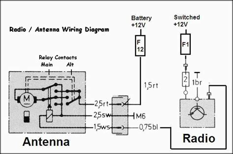 power antenna car wiring diagrams wiring diagrams