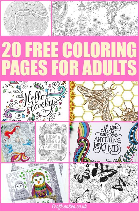 coloring books for adults uk 20 free coloring pages for adults crafts on sea