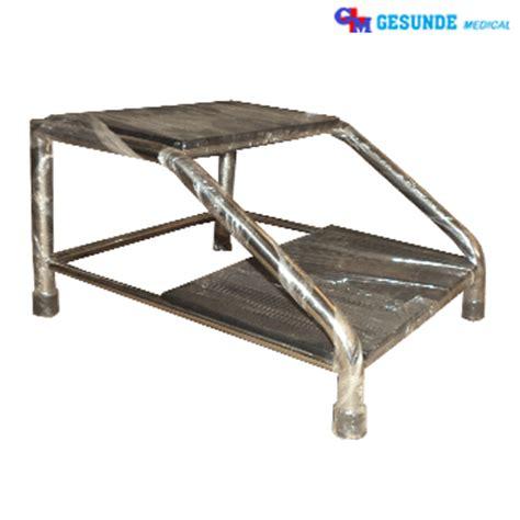 Kursi Bulat Stainless Steel footstep stainless steel meja periksa ginekologi toko