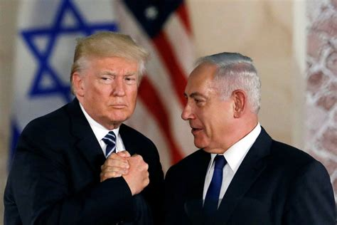 donald trump got pushed netanyahu is meeting trump to push for war with iran
