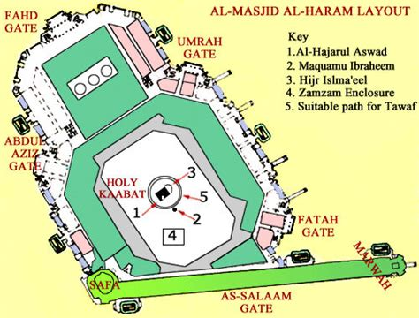 Layout Plan Of Masjid Al Haram | layout of masjid al haram at makkah a sane voice in a