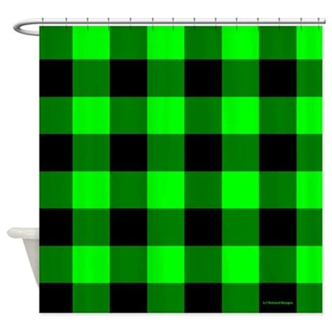 green and black shower curtain green and black checkered shower curtain by rainbowhot