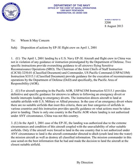 Official Navy Letter Template Memo Gate Leavenworth St