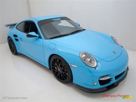 2010 light blue paint to sle porsche 911 turbo coupe 28659195 photo 21 gtcarlot car