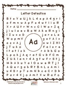 find a letter letter detective the pond graphics and