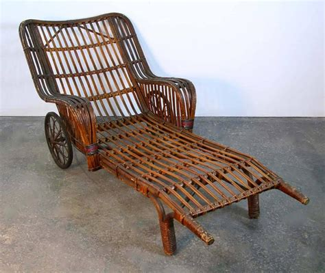antique wicker chaise lounge antique stick wicker chaise lounge chair with barkcloth