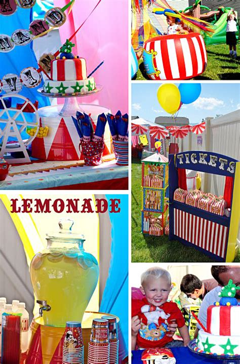 themes for carnival party big top circus birthday party ideas