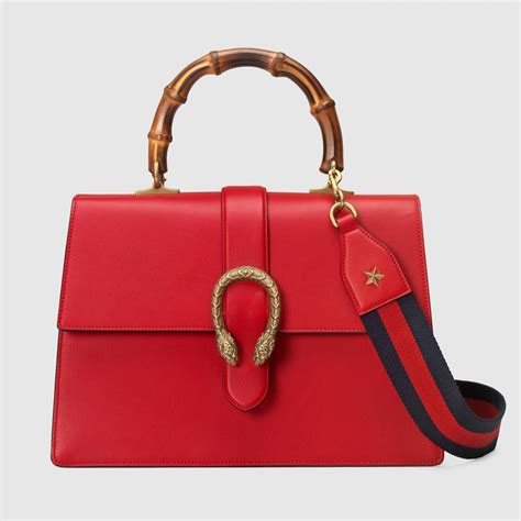 Tas Dionysus Bamboo Top Handle womens gucci bags dionysus leather top handle bag