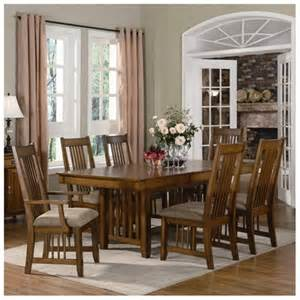 mission style 7pc dining room table set rakuten com