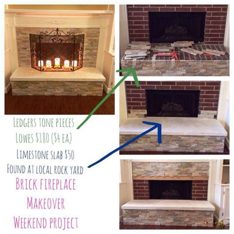Easy Brick Fireplace Makeover Ideasjburgh Homes How To Redo A Brick Fireplace