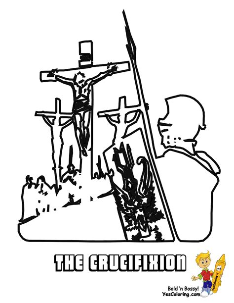 coloring pages jesus crucified regal easter coloring pages easter free crucifixion