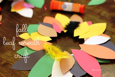 Paper Plate Fall Crafts - a fall wreath paper plate craft