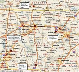 list cities towns carolina carolina map