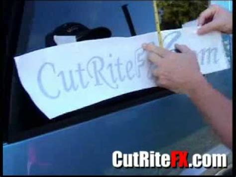 Window Decals How To Apply by Applying Window Decals Cutritefx
