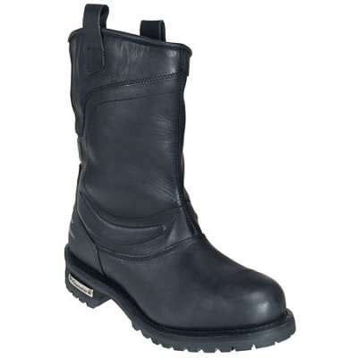 pull on motorcycle boots milwaukee s black deluxe pull on motorcycle boot mb420