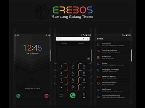samsung themes youtube top hd samsung theme 9 better than nougat black